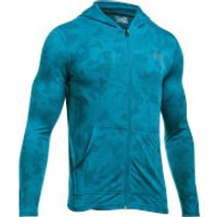 Under Armour Mens Threadborne Fitted FZ Hoody - Blue - XL - Blue