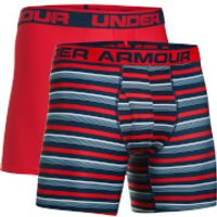 Under Armour Mens 2 Pack Original 6 Inch Boxerjock - Red - L - Red