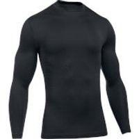 Under Armour Mens Striped Compression Long Sleeve Top - Black - L - Black