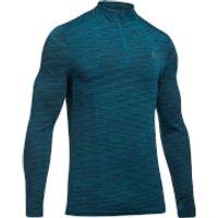 Under Armour Mens Threadborne Seamless 1/4 Zip Fleece - Blue - XL - Blue