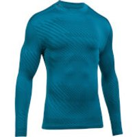 Under Armour Mens Striped Compression Long Sleeve Top - Blue - L - Blue