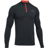 Under Armour Mens Threadborne Fitted 1/4 Zip Long Sleeve Top - Black/Red - XL - Black/Red