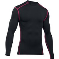 Under Armour Mens ColdGear Armour Long Sleeve Compression Top - Black/Red - L - Black/Red
