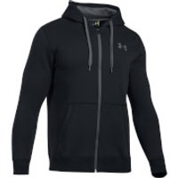 Under Armour Mens Rival Fitted Full Zip Hoody - Black - XXL - Black