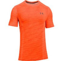 Under Armour Mens Threadborne Seamless T-Shirt - Orange - L - Orange