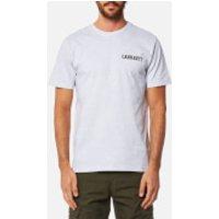 Carhartt Mens College Script T-Shirt - Ash Heather - XL - Grey