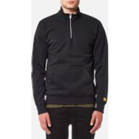 Carhartt Mens Chase Neck Zip Sweatshirt - Dark Navy/Gold - S - Blue