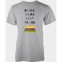 Drunk Man's Best Friend T-Shirt - M - Grey - Best Friend Gifts