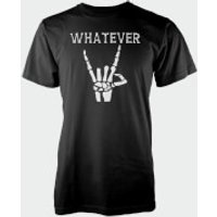 Whatever Skeleton Hands Black T-Shirt - XXL - Black