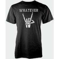 Whatever Skeleton Hands Black T-Shirt - M