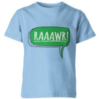 Dinosaur Rawr! Kids Light Blue T-Shirt - 5-6 Years