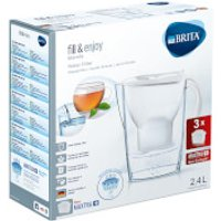 BRITA Maxtra  Marella Cool Water Filter Jug Starter Pack with 3 Cartridges   White