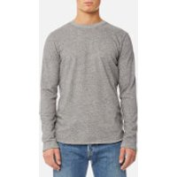 Edwin Mens Terry Long Sleeve T-Shirt - Dark Grey Heather - S - Grey
