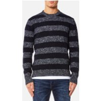 Edwin Mens Standard Stripes Sweater - Navy Flamme/Navy - S - Navy