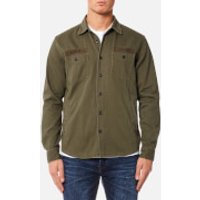 Edwin Mens Labour 4 Pockets Shirt - Military Green - S - Green