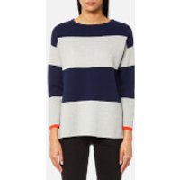 Joules Womens Uma Milano Stripe Knitted Jumper - French Navy - UK 10 - Blue