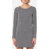 Joules Women's Roya Jersey Jacquard Tunic with Pockets - Navy Cream Geo - UK 14 - Multi