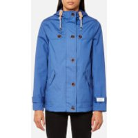 Joules Womens Coast Waterproof Hooded Jacket - Mid Blue - UK 10 - Blue