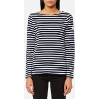 Joules Womens Harbour Jersey Top - Hope Stripe French Navy - UK 14 - Blue