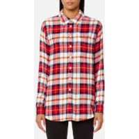 Joules Womens Laurel Long Line Shirt - Red Check - UK 10 - Multi