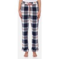 Joules Women's Snooze Woven Pyjama Bottoms - Navy Pink Check - UK 10 - Multi