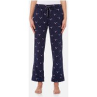 Joules Women's Snooze Woven Pyjama Bottoms - French Navy Pheasant - UK 12 - Blue