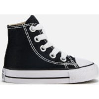 Converse Toddlers' Chuck Taylor All Star Hi-Top Trainers - Black - UK 7 Toddler - Black