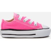Converse Toddlers' Chuck Taylor All Star Ox Trainers - Pink Pow - UK 2 Toddler - Pink