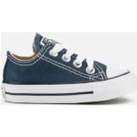 Converse Toddlers' Chuck Taylor All Star Ox Trainers - Navy - UK 6 Toddler - Blue