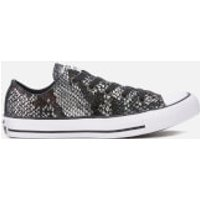 Converse Women's Chuck Taylor All Star Ox Trainers - Black/Black/White - UK 5 - Black