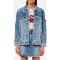 Tommy Hilfiger Womens Isabella Trucker Jacket - Blue - US 4/UK 8 - Blue