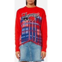 Tommy Hilfiger Women's Alekza Heritage Crew Neck Sweater - Red - M - Red