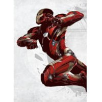 Marvel Comics Metal Poster - Civil War United We Stand Iron Man (68 x 48cm) - Iron Man Gifts