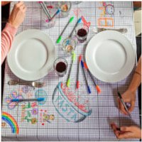 Doodle Tablecloth - Medium with 10 Wash Out Pens - Pens Gifts