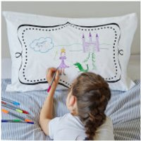 Doodle Notebook Pillowcase with 10 Wash Out Pens - Pens Gifts