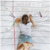 Doodle Duvet Cover - Single with 10 wash out pens - Pens Gifts