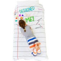 Doodle Duvet Cover (Single) with 10 Wash Out Pens - Duvet Gifts