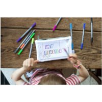 Doodle Notebook Pencil Case with 10 Wash Out Pens