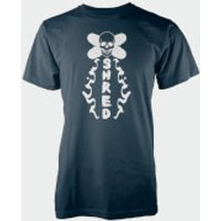 Skull Shred Navy T-Shirt - L - Navy