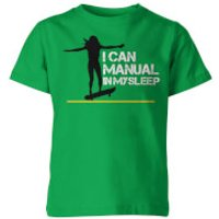 I Can Manual In My Sleep Kids Green T-Shirt - 5-6 Years - Green