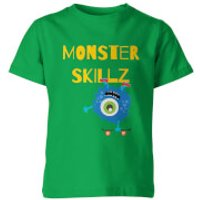 My Little Rascal Kids Monster Skulls Green T-Shirt - 5-6 Years - Green