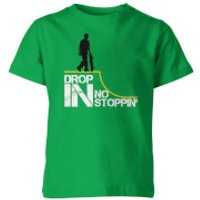 Drop In No Stoppin Kid's Green T-Shirt - 7-8 Years - Green