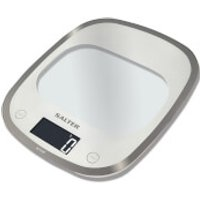 Salter Curve Glass Electronic Kitchen Scale - White