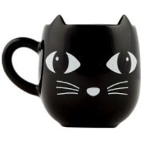 Sass & Belle Black Cat with Ears Mug