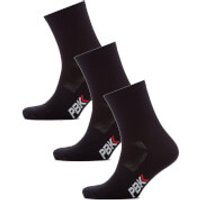 PBK Lightweight Socks Multipack - 3 Pairs - Black - S-M - Black