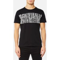Calvin Klein Mens Japet Chest Print T-Shirt - Perfect Black - L - Black