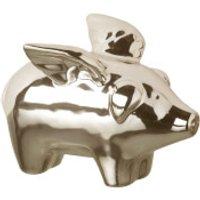 Parlane Ceramic Flying Pig Decoration (7 x 4cm)