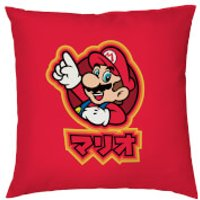 Nintendo Mario Kanji Cushion Cover - Smooth Linen