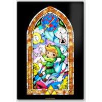 Nintendo Legend Of Zelda Sword Chromalux High Gloss Metal Poster