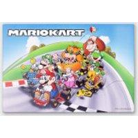 Póster Chromaluxe Metal Brillante Nintendo  Mario Kart 2